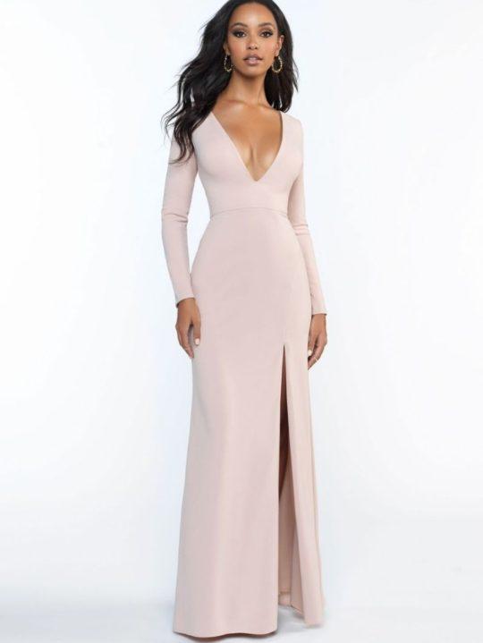 long-sleeve-pink-dress